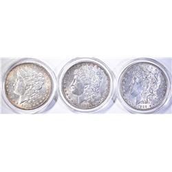 1882-O & 2-1889 MORGAN DOLLARS, CH BU