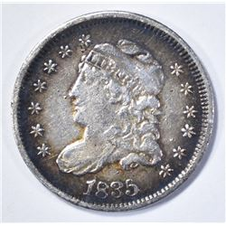 1835 CAPPED BUST HALF DIME, VF