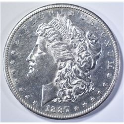 1887-S MORGAN DOLLAR, BU PL