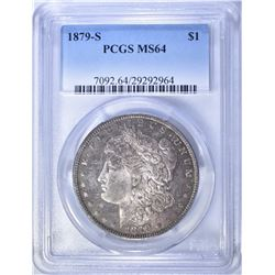 1879-S MORGAN DOLLAR PCGS MS-64 ORIGINAL TONE