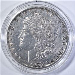 1878-CC MORGAN DOLLAR AU CLEANED