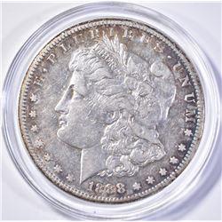 1888-S MORGAN DOLLAR, AU scratch obv