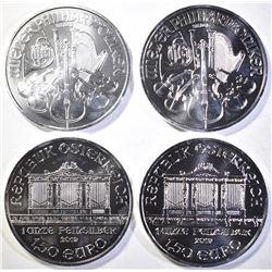 4-2019 AUSTRIAN 1oz SILVER PHILHARMONIC COINS