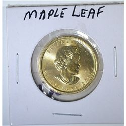 2015 CANADA HALF OUNCE .9999 GOLD MAPLE LEAF