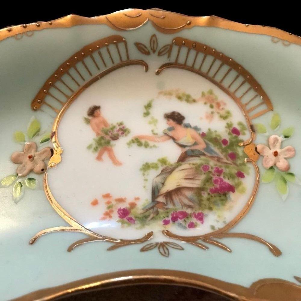 Vintage French Limoges Porcelain Victorian Relish Bone Dish