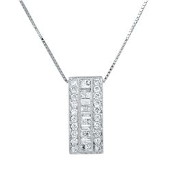 0.50 CTW Diamond Necklace 14K Yellow Gold - REF-42F2N