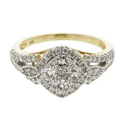 0.95 CTW Diamond Ring 14K Yellow Gold - REF-84M2F
