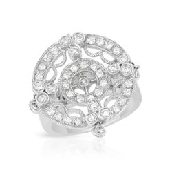 0.74 CTW Diamond Ring 18K White Gold - REF-124M6F