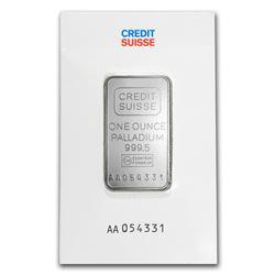 Genuine 1 oz 0.9999 Fine Palladium Bar - Credit Suisse