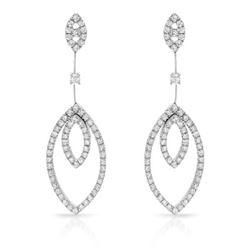 2.28 CTW Diamond Earrings 18K White Gold - REF-231Y6X