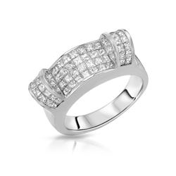 2.16 CTW Diamond Ring 18K White Gold - REF-281X2R