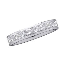 0.28 CTW Diamond Wedding Ring 14KT White Gold - REF-44W9K