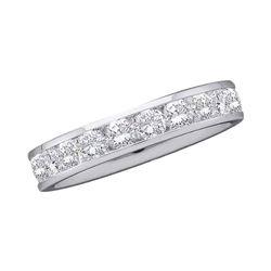 0.28 CTW Diamond Wedding Ring 14KT White Gold - REF-44W9K