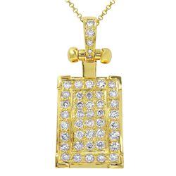 2 CTW Diamond Pendant 14K Yellow Gold - REF-214W3H