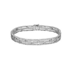 3.09 CTW Diamond Bracelet 18K White Gold - REF-327F9N