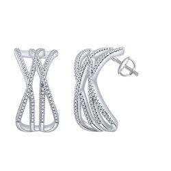 0.29 CTW Diamond Earrings 14K Rose Gold - REF-43N7Y