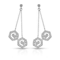 0.62 CTW Diamond Earrings 14K White Gold - REF-60W2H