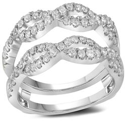 0.75 CTW Diamond Ring 14KT White Gold - REF-89W9K