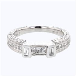 0.41 CTW Diamond Band Ring 14K White Gold - REF-67M2F