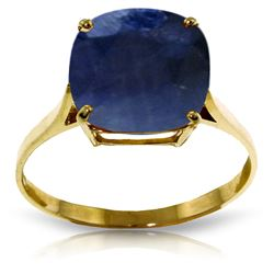 Genuine 4.83 ctw Sapphire Ring Jewelry 14KT Yellow Gold - REF-54R2P