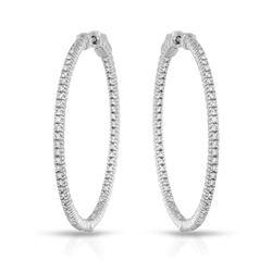 1.21 CTW Diamond Earrings 14K White Gold - REF-160X7R