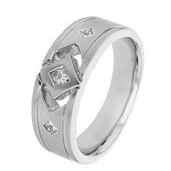 0.36 CTW Princess Diamond Ring 14K White Gold - REF-103H9M