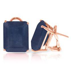 Genuine 14 ctw Sapphire Earrings Jewelry 14KT Rose Gold - REF-125T6A