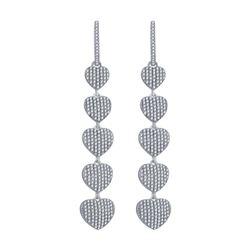 0.83 CTW Diamond Earrings 14K Rose Gold - REF-61N3Y