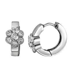 0.30 CTW Diamond Earrings 14K White Gold - REF-74M5F