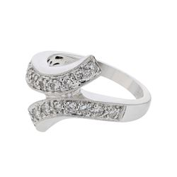 0.48 CTW Diamond Ring 18K White Gold - REF-87M9F