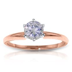 Genuine 0.50 ctw Diamond Anniversary Ring Jewelry 14KT Rose Gold - REF-146A4K