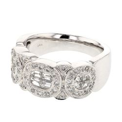 1.08 CTW Diamond Ring 14K White Gold - REF-135Y6X