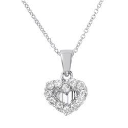 0.50 CTW Diamond Necklace 14K White Gold - REF-57X4R