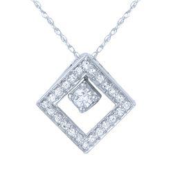 0.25 CTW Diamond Necklace 14K White Gold - REF-30M3F