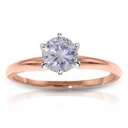 Genuine 0.75 ctw Diamond Anniversary Ring Jewelry 14KT Rose Gold - REF-203Y6F