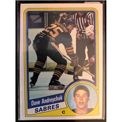 1984-85 Topps Rookie Card Dave Andreychuk Card #13