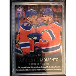 2015-16 Authentic Moments Connor Mcdavid, Taylor Hall