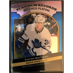 2017-18 O-Pee-Chee Platinum Records Auston Matthews
