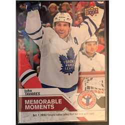 2019 Upper Deck Memorable Moments John Tavares