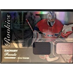 2015-16 Fleer Rookies Materials Zachary Fucale Jersey