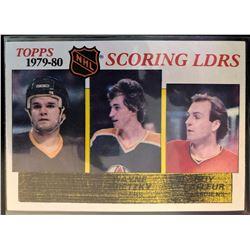 1980-81 Topps Marcel Dionne, Wayne Gretzky, Guy Lafleur