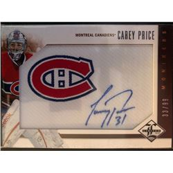 2012-13 Panini Limited Autographs Carey Price #M-CP