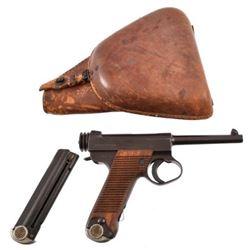 WW II Japanese Nambu Model 14 Pistol & Holster