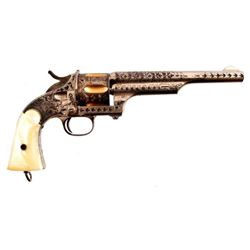 Engraved Merwin Hulbert .44 Army Revolver