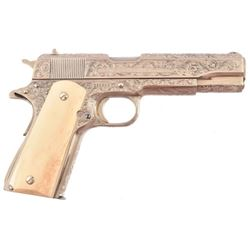 Colt 1911 Fully Engraved Texas Ranger Emblem