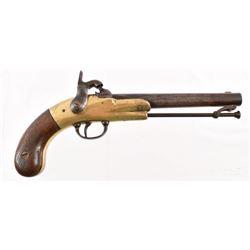 Rare Confederate J&F Garrett Brass Frame Pistol