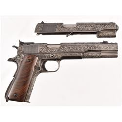 Cased Springfield 1911 Fully Engraved