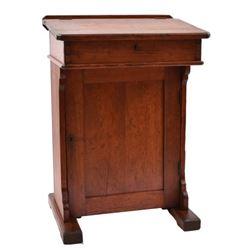 Small Texas Pine Desk Signed J. Hooton
