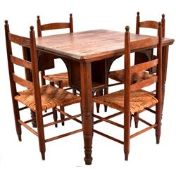 Antique E. Puchta Saloon Table & Chairs