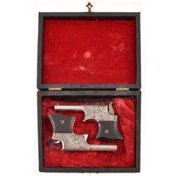 Cased Pair of Remington Vest Pocket Pistols